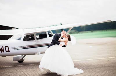 Hochzeit im Höhenflug: Julia & Dimis himmlische Hochzeit am Flugplatz Hodenhagen!