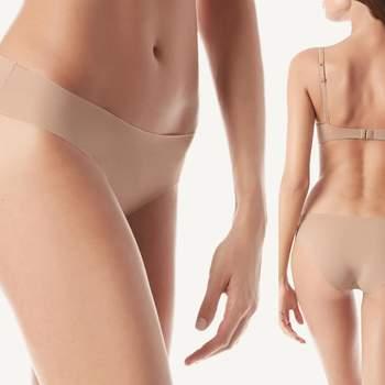 Braguitas nude sin costuras y cortadas a láser. Credits:  Intimissimi