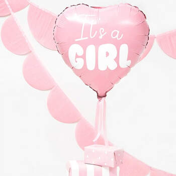 Globo corazón It's a Girl- Compra en The Wedding Shop