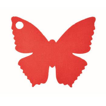 Marcasitio mariposa de cartón rojo 10 unidades- Compra en The Wedding Shop