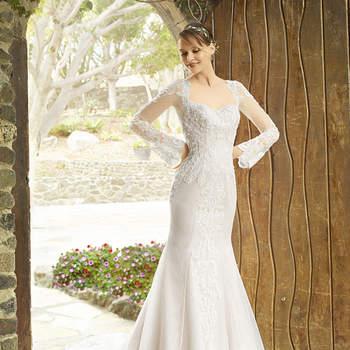 Vestidos de novia escote cuadrado. ¡Uno de los cortes favoritos en la moda nupcial!