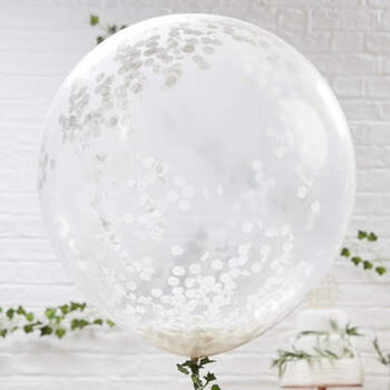 Globos grandes con confeti 3 unidades - Compra en The Wedding Shop