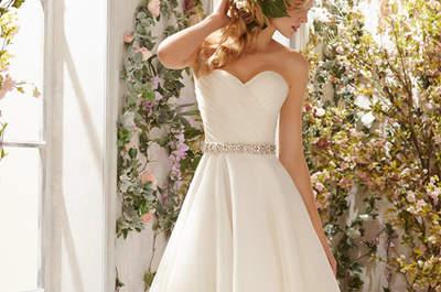 Cómo escoger el vestido de novia ideal para la ceremonia civil: ideas muy sentadoras