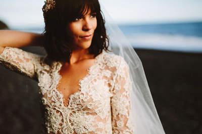 Peinados de novia con flequillo: luce perfecta el día de tu boda