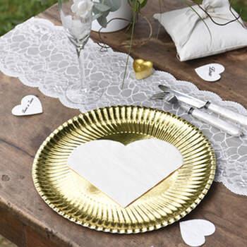 Servilletas Corazón Blanco 20 Unidades- Compra en The Wedding Shop