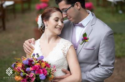 Casamento no campo de Vivian e Vinícius: romântico, autêntico e ao som de música clássica!