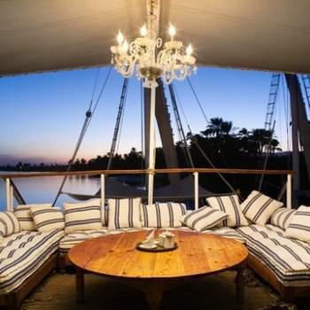 Decoração do barco pode ser elegante e simples. Foto: Vincent Leroux