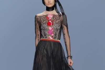 El básico color negro transformado en avant garde: Vestidos de fiesta 2015 de M&M