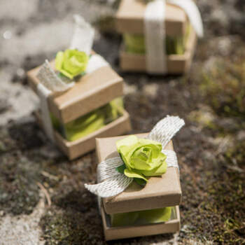 Cajas Para Almendras Cubo Kraft 6 unidades- Compra en The Wedding Shop