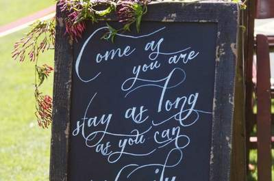 Wedding Decor Highlight: Chalkboards and Rustic Signage