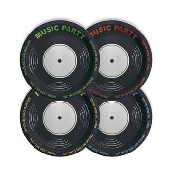 Platos Fiesta de Música 8 unidades- Compra en The Wedding Shop