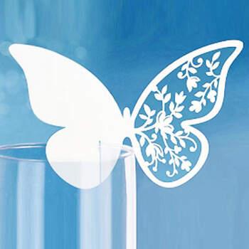 Marcasitio Papel Mariposa Blanca 10 Unidades- Compra en The Wedding Shop