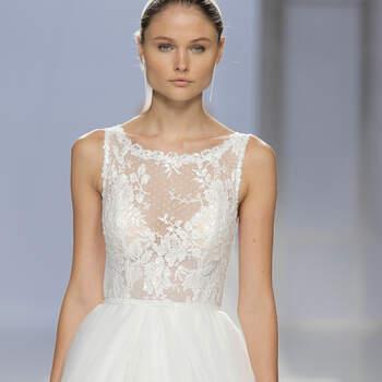 Los mejores vestidos de novia escote ilusión. ¡Encuentra el diseño de tus sueños!