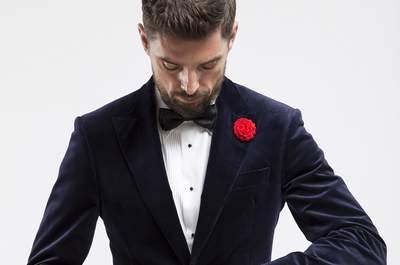 Pour un marié élégant et romantique, osez le sur-mesure avec les costumes de mariage Gentleson!