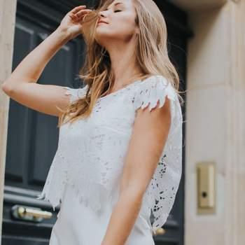 Robe de mariée vintage modèle Germaine - Crédit photo: Elsa Gary
