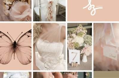 Collage para decorar tu boda con inspiración en las mariposas