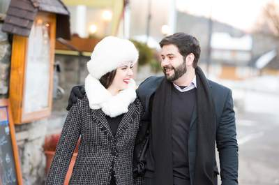Ensaio pré casamento e editorial no inverno alemão: romantismo na neve!