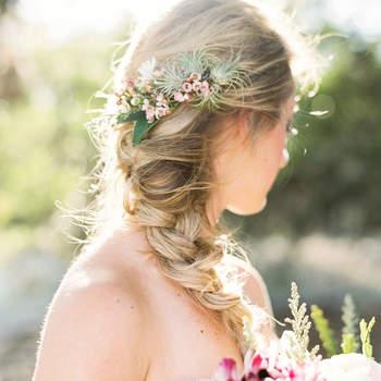 Penteado para noiva com trança | Credits: Loft Photography