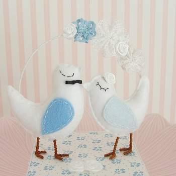 Für blaue Hochzeitstorten