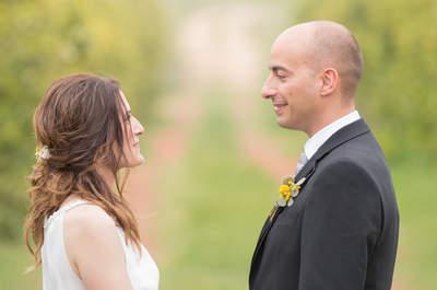 Una novia con botas camperas: la boda de Olga y Héctor