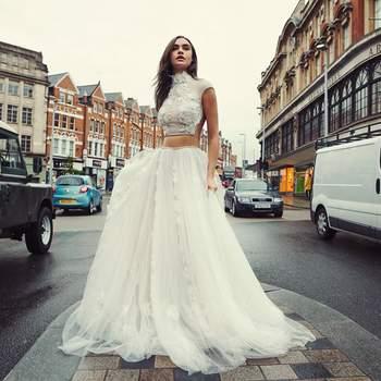 Abiti da sposa a collo alto: lusso d'altri tempi per spose di nuova generazione