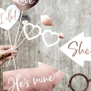 Accessoires Photocall Rose Gold 10 pièces - The Wedding Shop !