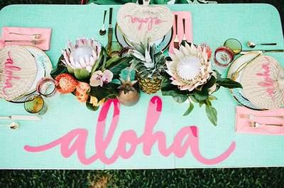 Cómo decorar una boda de inspiración tropical