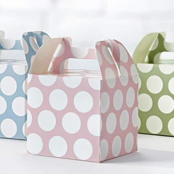Caja dulce lunares color 6 piezas- Compra en The Wedding Shop