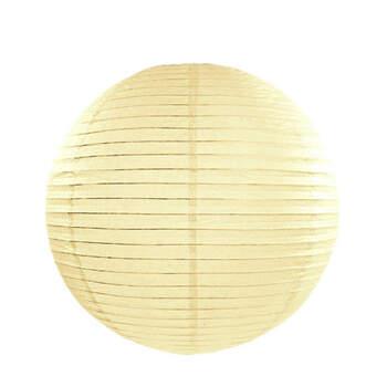 Esfera de papel para iluminar crema 25cm- Compra en The Wedding Shop