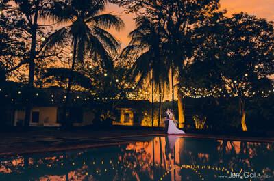 Casamento rústico de Érica & Frank: em clima de fazenda e decoração em tons de azul