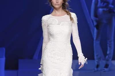 Vestido de noiva às riscas, by YolanCris 2013