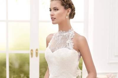 Vestidos de novia cuello cisne. ¡Las mejores propuestas de tendencia de la temporada!