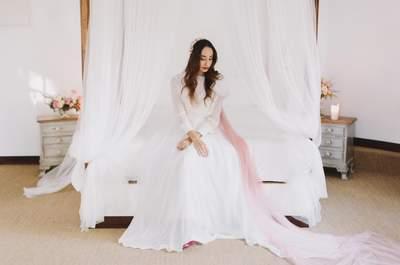 Rosa cuarzo: el color que dará a tu look de novia un toque romántico y especial