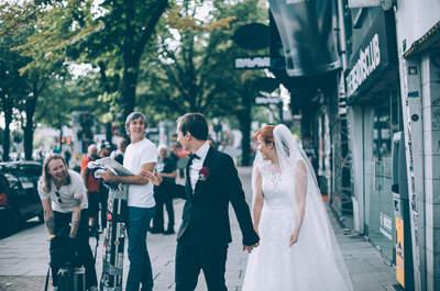 Spontanes Treffen mit einem Promi während des Hochzeits-Shootings. Welchem Promi würden Sie gerne begegnen?