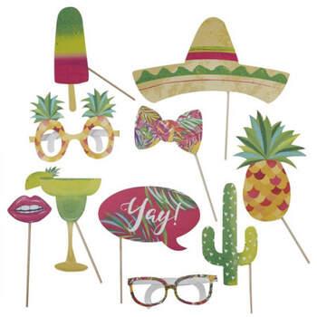 Atrrezo para Photocall de estilo mexicano 10 unidades - Compra en The Wedding Shop