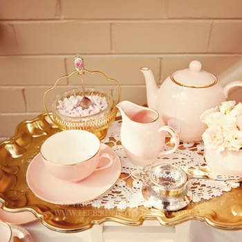 Decoração de casamento estilo chá da tarde.