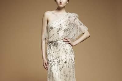 Asymmetrische Brautkleider aus den Kollektionen von 2013