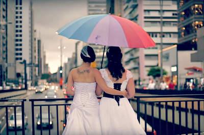 Fabia e Gabi são diretoras do documentário. Foto: Reprodução 'Vestidas de Noiva'