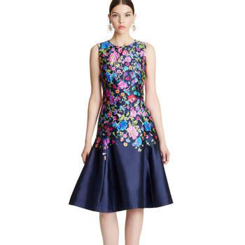 Chine garden florar mikado flared dress. Credits- Oscar de la Renta