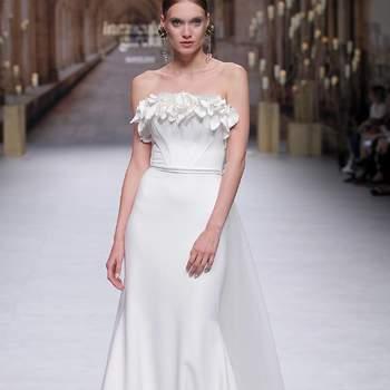 Inmaculada García. Credits: Valmont Barcelona Bridal Fashion Week