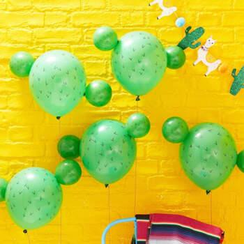 Globos de cactus para fiestas mexicanas 5 unidades- Compra en The Wedding Shop