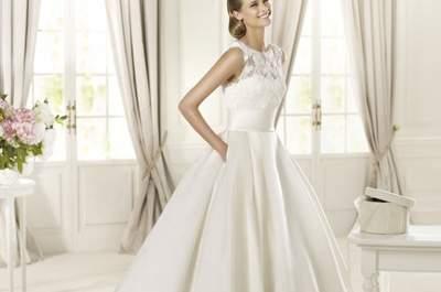 Vestidos de novia con escote ilusión de Pronovias 2013