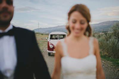 Una novia romántica y un novio hípster: la boda rustic chic de Irene y Gustavo
