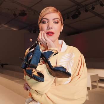 Raquel Strada vestida por Carlos Gil | Sapatos: Luís Onofre | Foto via Instagram