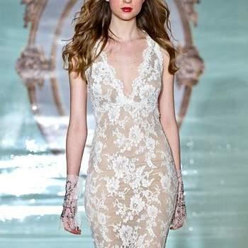 Свадебное платье из прозрачной ткани, с вышивкой, длинное, без корсета.