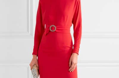 Vestidos de fiesta rojos: color intenso para tu look de invitada