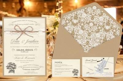 Las últimas tendencias en invitaciones de matrimonio. ¡Triunfa con tus partes de boda!
