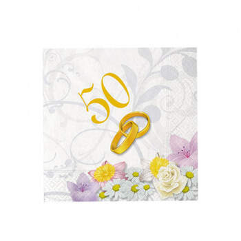 Servilletas 50 aniversario 20 unidades- Compra en The Wedding Shop