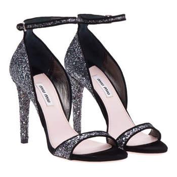 Sandales Miu Miiu avec talon de 10,5 cms. Modèle très chic !
