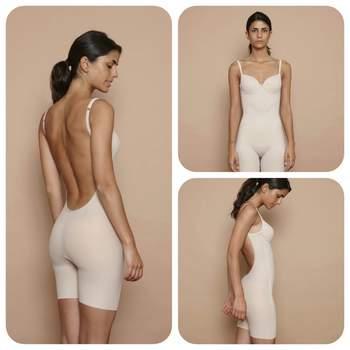 Body nude con espalda baja y pantalón reductor. Credits: Anay.